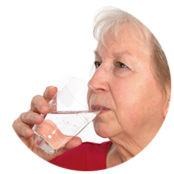 vrouw drinken
