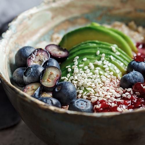 havermout avocado bowl
