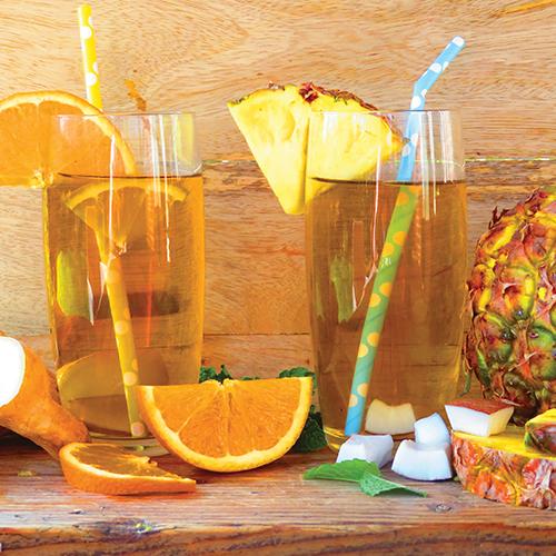 sinaasappel ijsthee